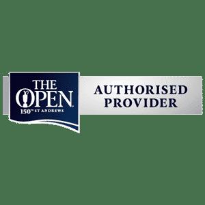 The Open Championship Authorised Provider logo