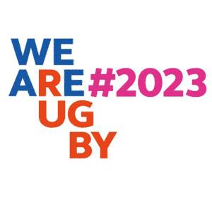 France 2023 hashtag logo