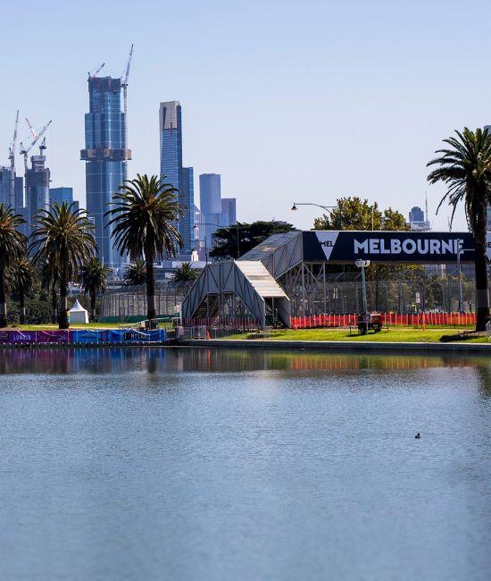 Melbourne Grand Prix, Albert Park skyline