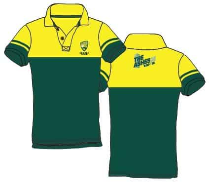 Ashes 2021 Cricket Australia merchandise polo shirt
