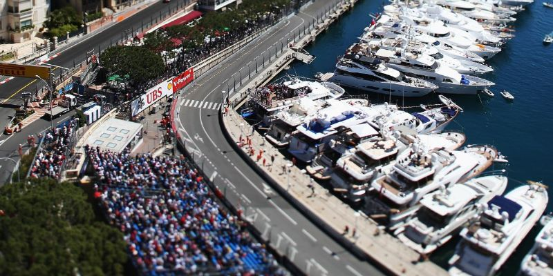 Monaco Grand Prix Grandstand K from above