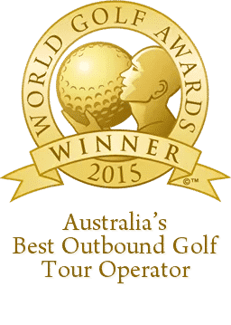 Australia's best outbound golf tour operator award 2015