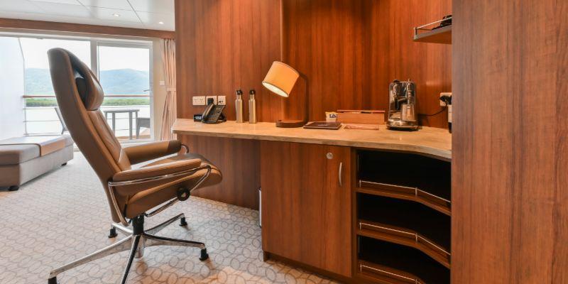 Coral Geographer - Bridge Deck Suite desk